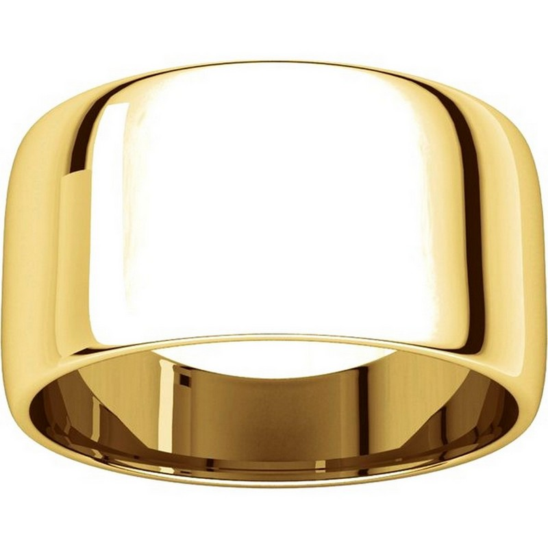Item # 11683110E - 18K Gold Plain Wedding Bands View-3