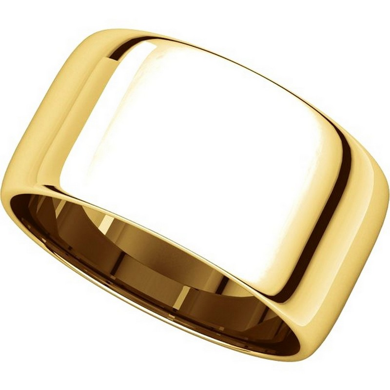 Item # 11683110E - 18K Gold Plain Wedding Bands View-4