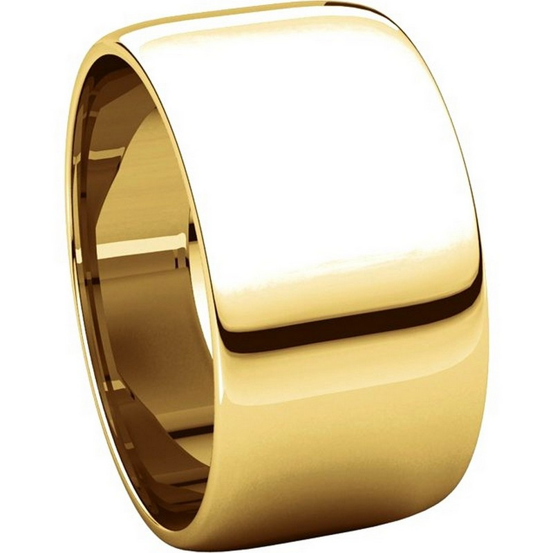 Item # 11683110E - 18K Gold Plain Wedding Bands View-5