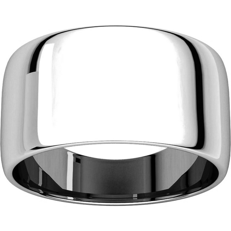 Item # 11683110PP - Platinum 10mm Wide  Wedding Band View-3