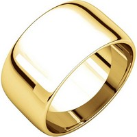 14K Gold 10mm Wide Men and Women Wedding Rings