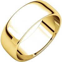 Item # 116831E - 18K Gold 7 mm Wide His or Hers Wedding Ring