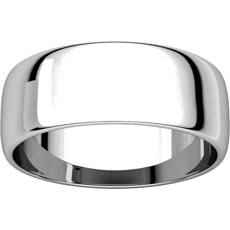 Item # 116831PP - Platinum Plain 7mm Wedding Ring View-3