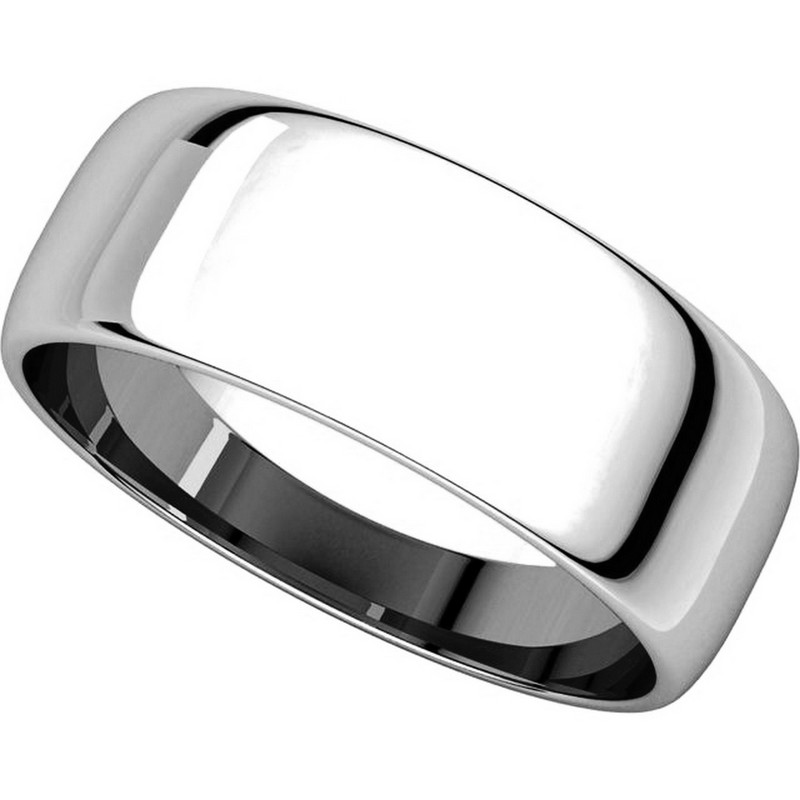 Item # 116831PP - Platinum Plain 7mm Wedding Ring View-4