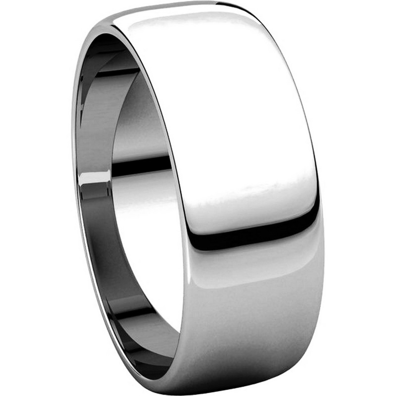 Item # 116831PP - Platinum Plain 7mm Wedding Ring View-5