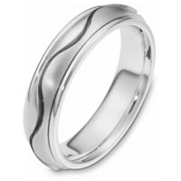 Item # 116961PP - Platinum hand made Wedding Band