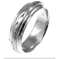 Item # 117091WE - 18 kt Hand Made Wedding Band