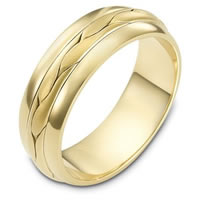 14 kt Yellow Gold Hand Made Wedding Band
