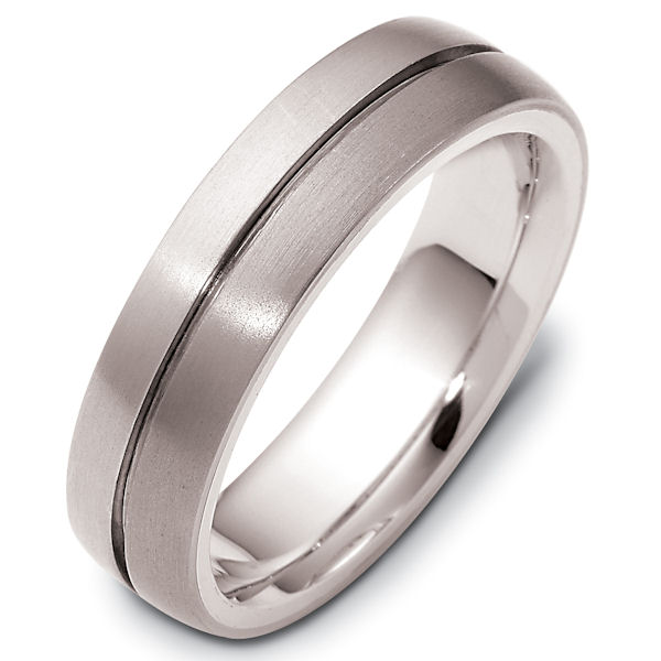 Titanium-14 K Gold, Comfort Fit Wedding Band