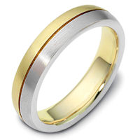 Item # 117111PE - Platinum & Gold Wedding Band Together Forever