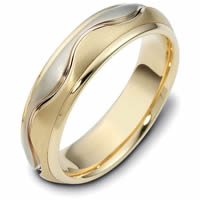 Item # 117141E - 18K Hand Made Wedding Band , Perfect Harmony