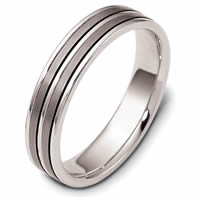 Item # 117161TG - Titanium and Gold Wedding Ring