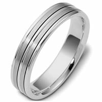 Item # 117161W - 14 kt Hand Made Wedding Band