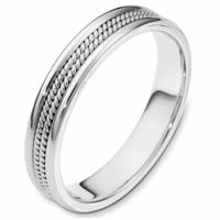 Platinum, Comfort Fit, 4.0mm Wide Wedding Band