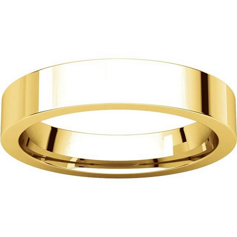 Item # 117211 View 3 - 14K Plain 4.0mm Comfort Fit Wedding Ring