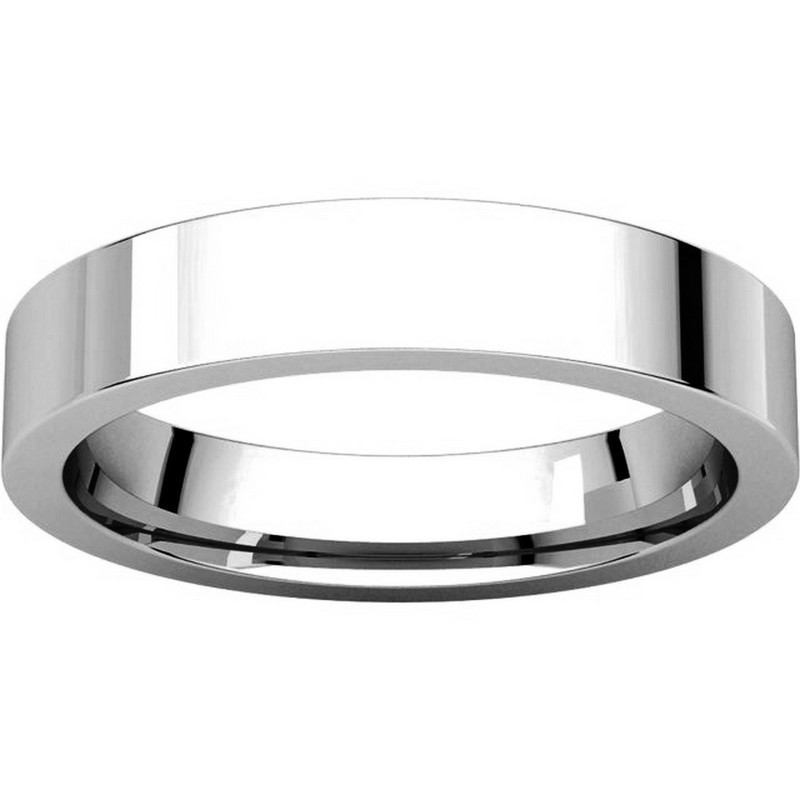 Item # 117211PP View 3 - Plain 4.0 mm Wedding Ring in Platinum