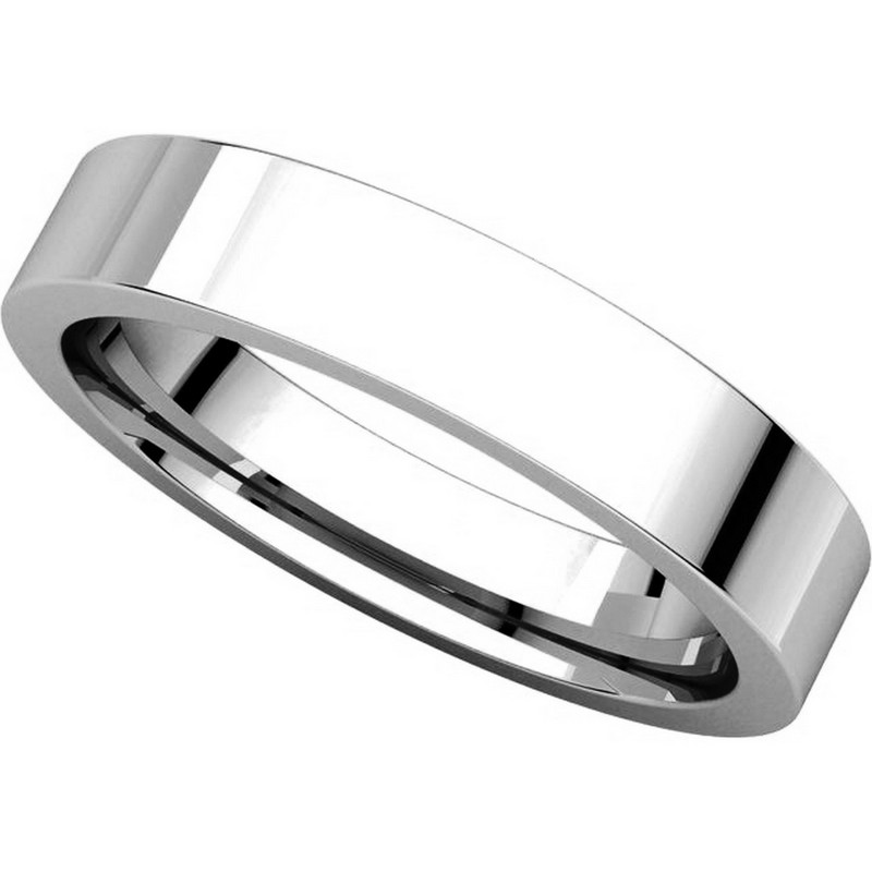 Item # 117211PP View 4 - Plain 4.0 mm Wedding Ring in Platinum