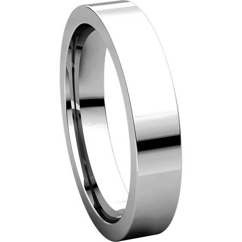 Item # 117211PP View 5 - Plain 4.0 mm Wedding Ring in Platinum