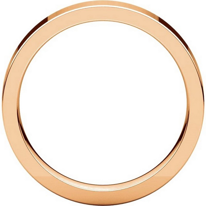 Item # 117211RE View 2 - 18K Rose Gold Plain 4mm Comfort Fit Wedding Ring