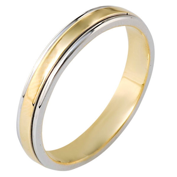 18 Gold, Comfort Fit, 4.0mm Wide Wedding Band