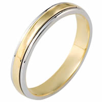 14 K Gold, Comfort Fit, 4.0mm Wide Wedding Band