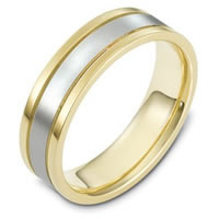 18K Gold, Comfort Fit, 6.0mm Wide Wedding Band