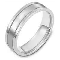 Platinum, Comfort Fit, 6.0mm Wide Wedding Band