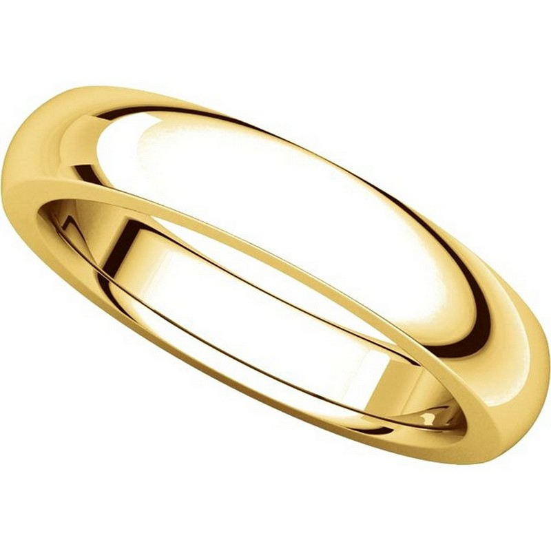 Item # 117331 View 4 - Gold Plain comfort fit 4.5mm Wedding Band