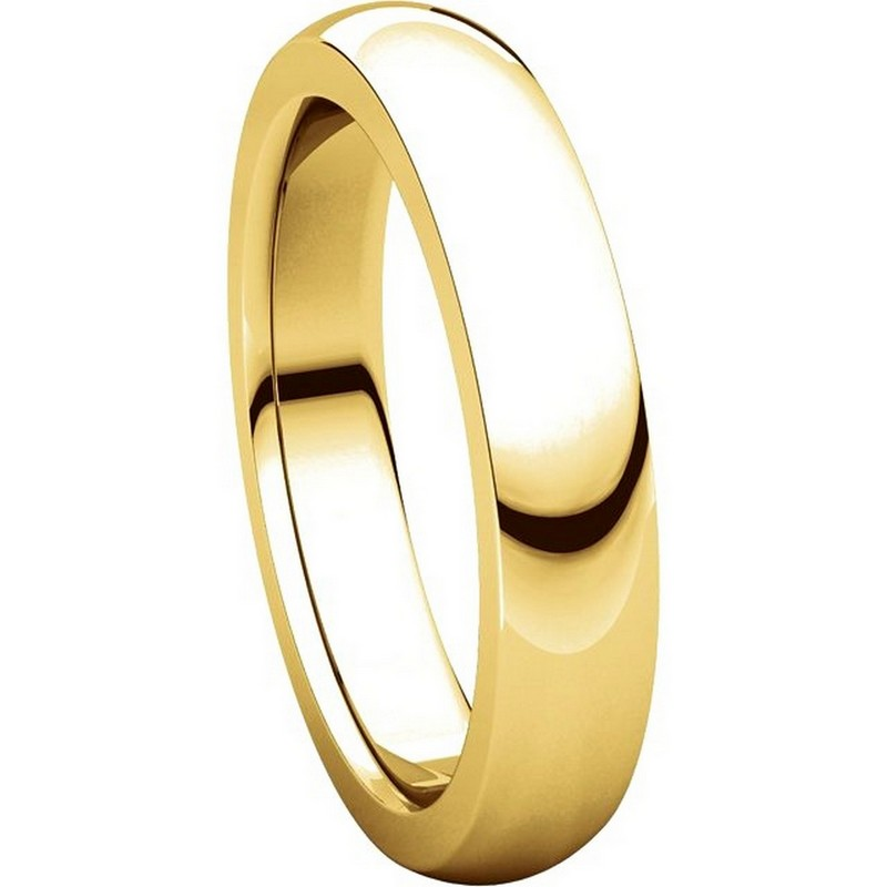 Item # 117331 View 5 - Gold Plain comfort fit 4.5mm Wedding Band
