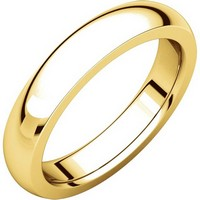 Item # 117331E - Gold Plain comfort fit 4.5 mm Wedding Band