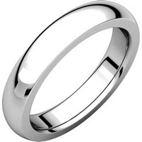 Item # 117331W - 14 K White Gold Plain comfort fit Wedding Band