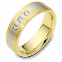 Platinum-18K Gold Diamond Wedding Band