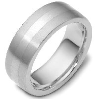 Item # 117731AG - Silver Comfort Fit 7.5mm Wide Wedding Band