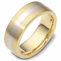14 K Gold, Comfort Fit, 7.5mm Wide Wedding Band