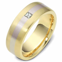 Item # 117741E - 18K Gold Diamond Wedding Band