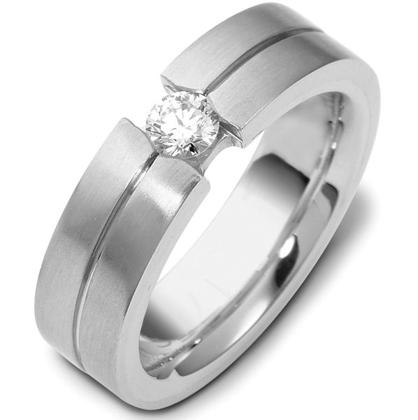 Item # 117761PD - Palladium Diamond Wedding Band, (0.22ct.) View-1