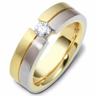 Item # 117761PE - Platinum-18kt Gold Diamond Wedding Band