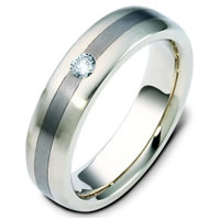 Item # 117781TG - Titanium-Gold Diamond Wedding Band
