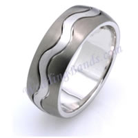 Item # 117811TG - Titanium-Gold Comfort Fit Wedding Band