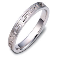 Item # 117944PP - Platinum Greek Key Wedding Band