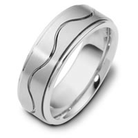 Item # 117951WE - Gold Wedding Band RaceTrack