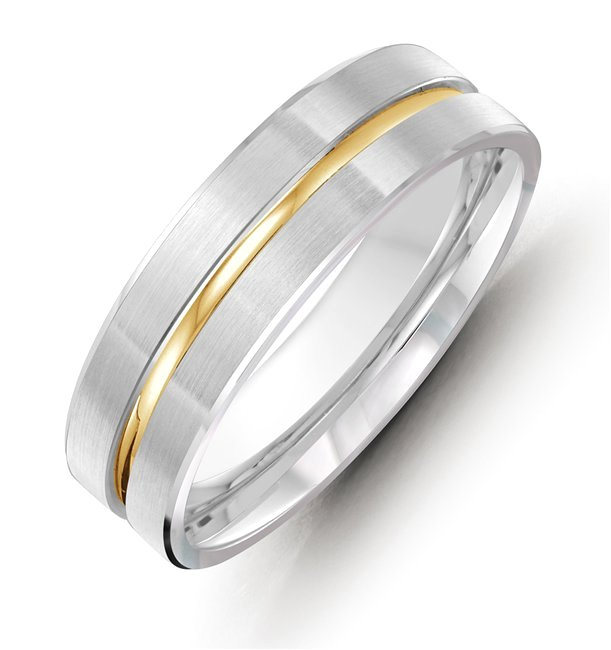 18K Gold, Comfort Fit, 8.0mm Wide Wedding Band