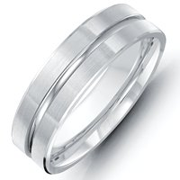 Item # 118091PD - Palladium Handcrafted Wedding Band