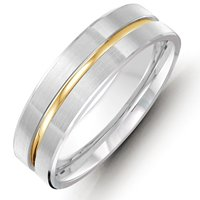 Gold, Comfort Fit, 8.0mm Wide Wedding Band