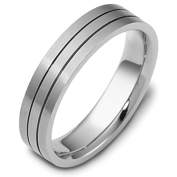 Item # 118231PD - Palladium, 5.0 mm Wide Comfort Hand Made Wedding Band. The ring is a matte finish. Different finishes may be selected or specified.