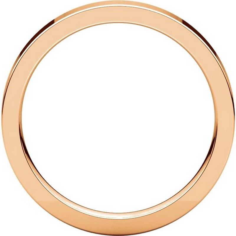 Item # 118381R View 2 - 14K Rose Gold Flat comfort fit 3mm Wedding Band