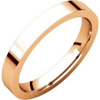 Item # 118381R - 14K Rose Gold Flat comfort fit 3mm Wedding Band