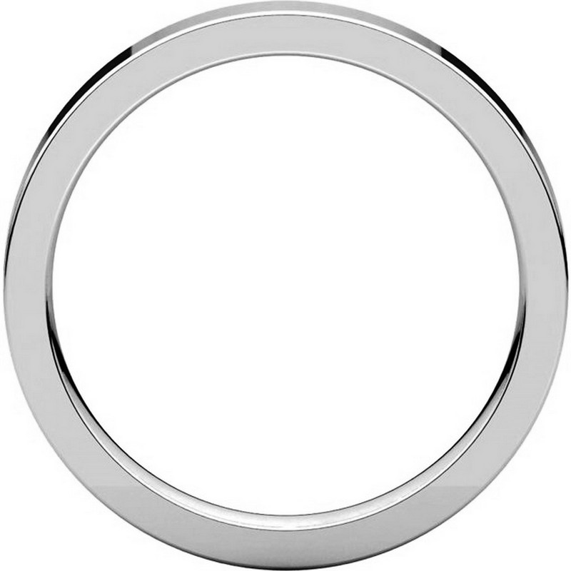 Item # 118381W - White Gold  Flat comfort fit 3mm Band View-2
