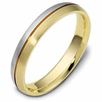Item # 118411PE - Platinum-Gold, Comfort Fit Wedding Band