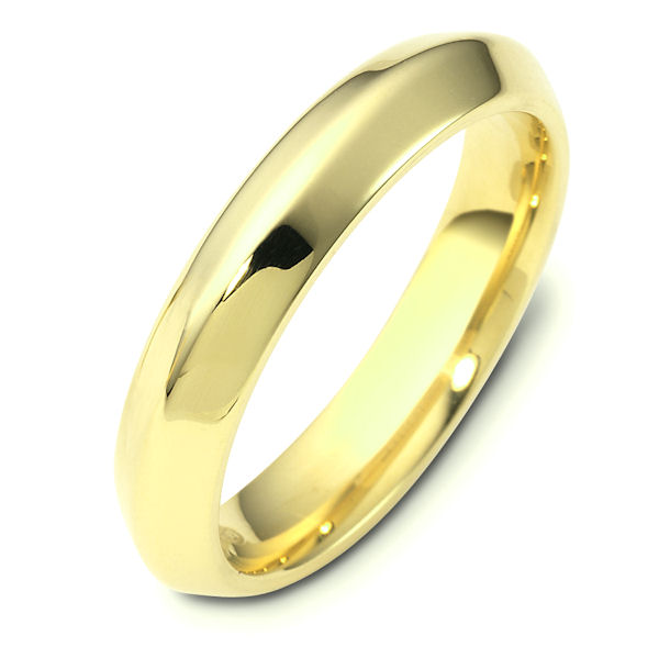 Item # 118461 - 14kt Two-tone gold contemporary, comfort fit, 4.0mm wide wedding band. The whole ring has a polished finish. Different finishes may be selected or specified.